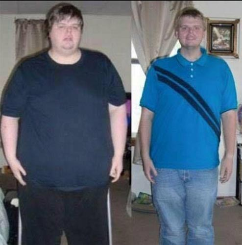 Steven M., who lost a total of 121 lbs.!
